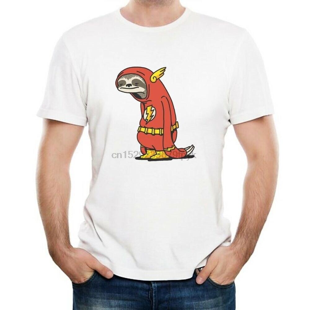 T-shirts da novidade do flash da preguiça-presente engraçado do super-herói barry allen