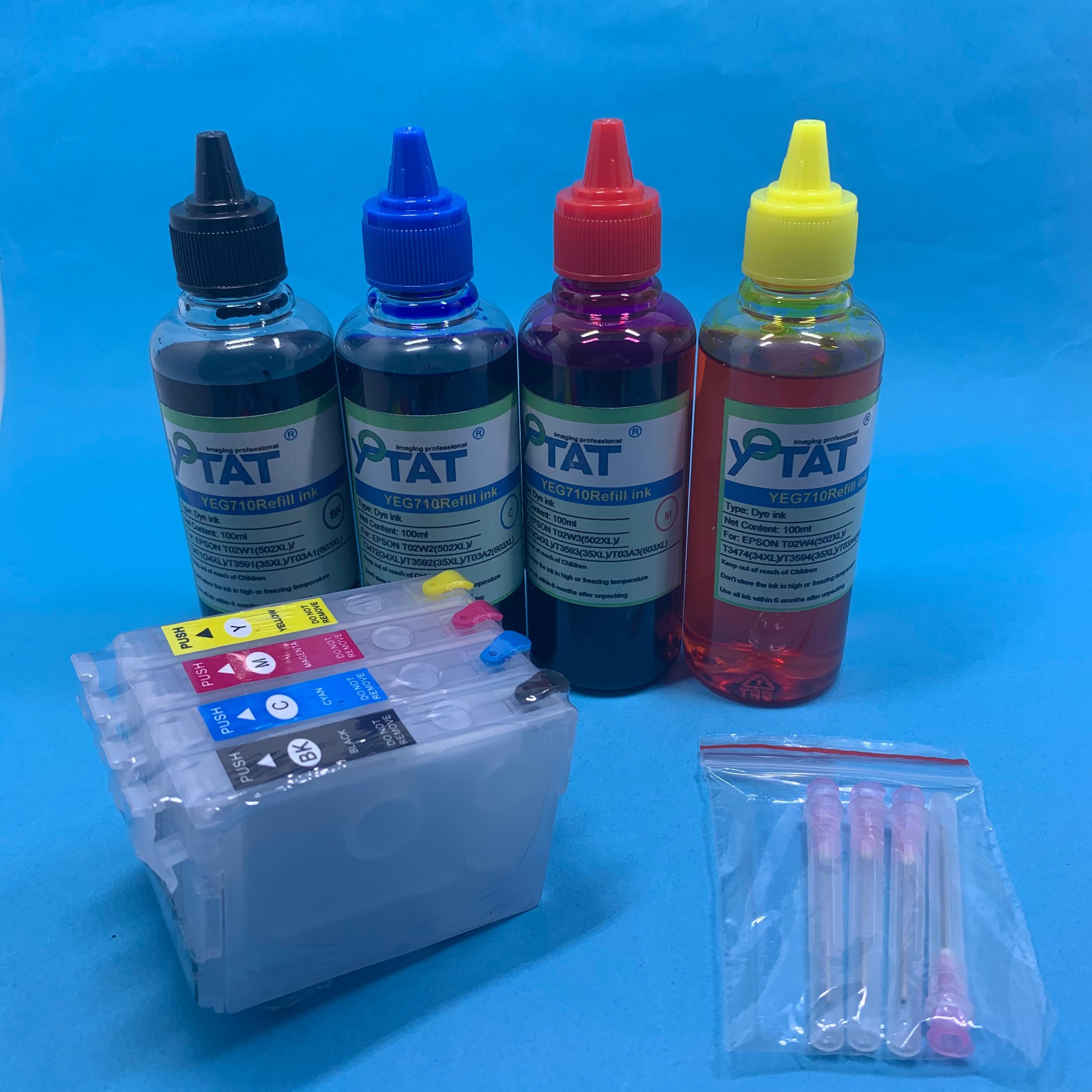 YOTAT T603 recargable 603XL cartucho de tinta T03A1-T03A4 para Epson XP-2100 XP-2105 XP-3100 XP-3105 XP-4100 XP-4105 WF-2810 WF-2830