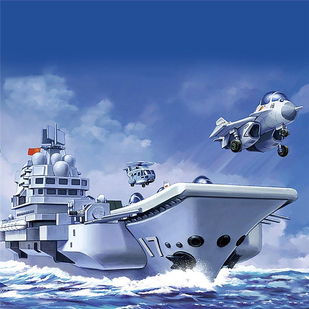 Kits de montagem de modelo de plástico com plataforma de vista do mar para meng WB-008 pla. Marinha shandong navio de guerra q edição modelo de porta-aviões