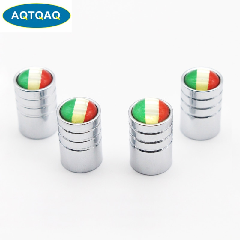 4pcs/lot Italy Flag Car Bike Moto Tires Wheel Valve Caps Tyre Rim Covers Car Styling Stem Cover Accessories Decoration 4pcs auto motorcycle accessories car wheel tires valve caps for m bmw audi vw toyota nismo skoda vrs opel opc car styling