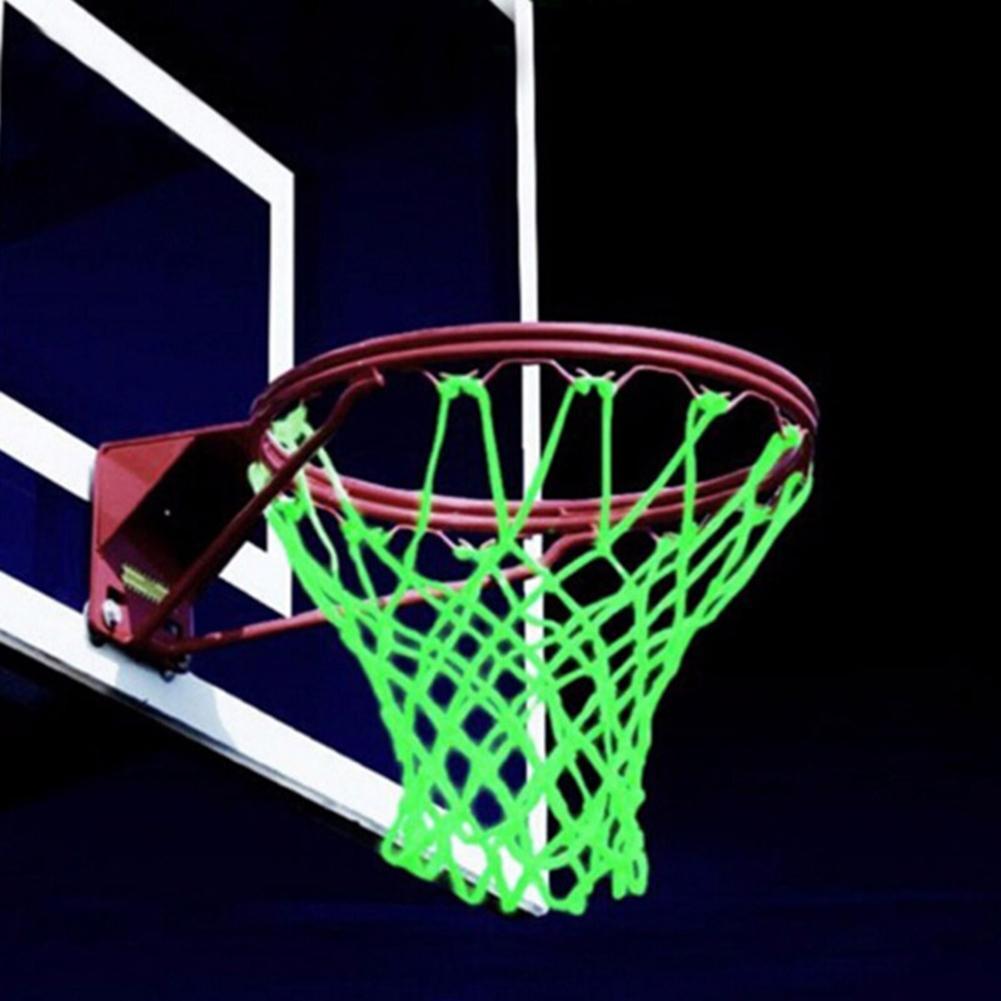 Фото - Kids Braided Nylon Glowing Luminous Basketball Net Training Sports Supplies Basketball Net luminous basketball net light up basketball net fluorescent basketball hoop mesh net glowing light basketball supplies