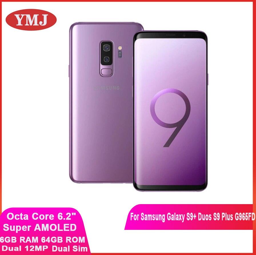 Samsung Galaxy S9 + Duos S9 плюс G965FD Dual Sim оригинальный мобильный телефон Exynos Octa Core 6,2 дюйм двойной 12MP 6 ГБ оперативной памяти, 64 Гб встроенной памяти, NFC