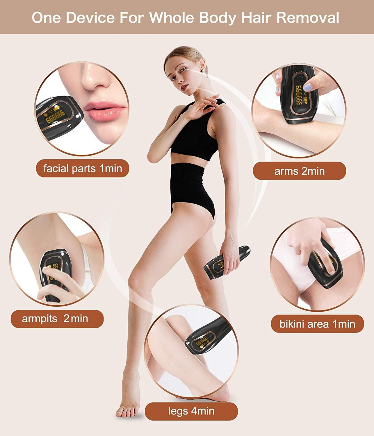 IPL Hair Removal for Women and Men Permanent Painless Laser Hair Removal System 999,999 Hair Remover Treatment for Whole Body enlarge