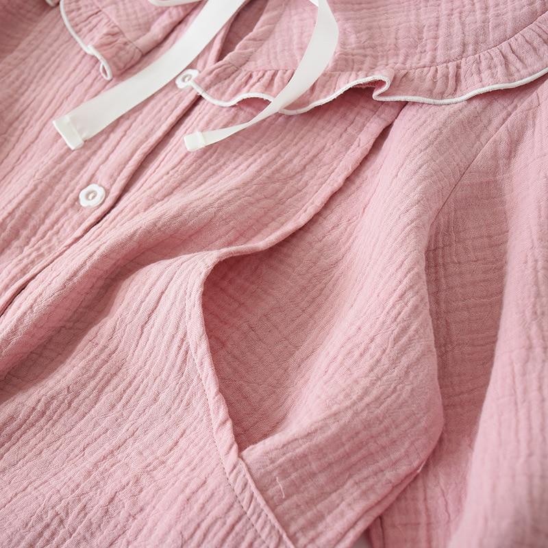 Fdfklak Spring Autumn Pyjamas Women Matternity Clothes Cotton Pajamas For Pregnant Women Long Sleeve Breastfeeding Pijama enlarge