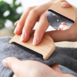 Cuidados com o vestuário de madeira anti pilling manual suéter escova uso doméstico tecido removedor de fiapos pente fácil limpo aparador fuzzy