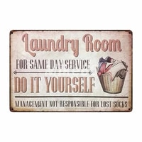laundry room drop your pants here funny metal sign home bar hotel wall painting plaque poster party bar decor fg 242