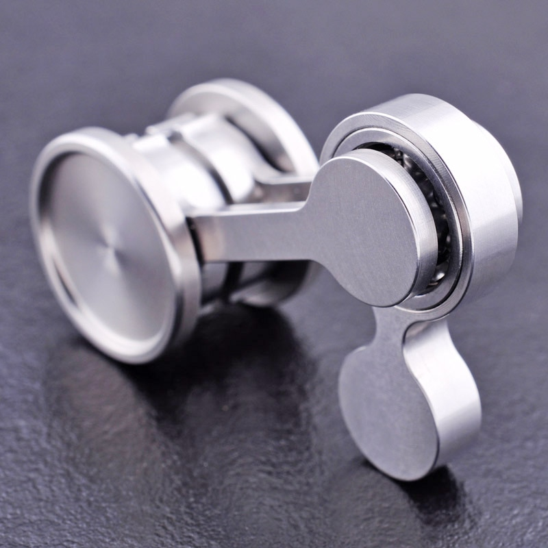 304 stainless steel Chaotic pendulum Fingertip gyro Double pendulum stainless steel Edc adult decompression toy Manual rotator enlarge