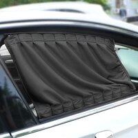 leepee 2pcsset auto windows curtain aluminum alloy sun visor blinds cover car curtain side window sunshade curtains