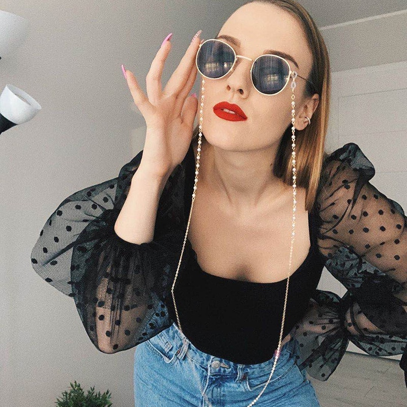 Conch Eyeglass Eyewears Pearl Mask Chain Shell Reading Glasses Chain For Women Sunglasses Spectacle Cord Neck Strap String Chain