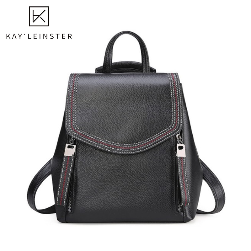 Genuine Leather Women Backpack Large Capacity School Backpacks Fashion Female Shoulder Bag Daily Women'S Backpack Bags For Girls casual backpack female brand leather women s backpack large capacity school bag for girls double zipper leisure shoulder bags