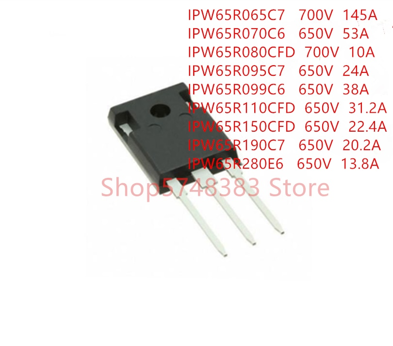 10 PÇS/LOTE IPW65R065C7 IPW65R070C6 IPW65R080CFD IPW65R095C7 IPW65R099C6 IPW65R110CFD IPW65R150CFD IPW65R190C7 IPW65R280E6 PARA-247