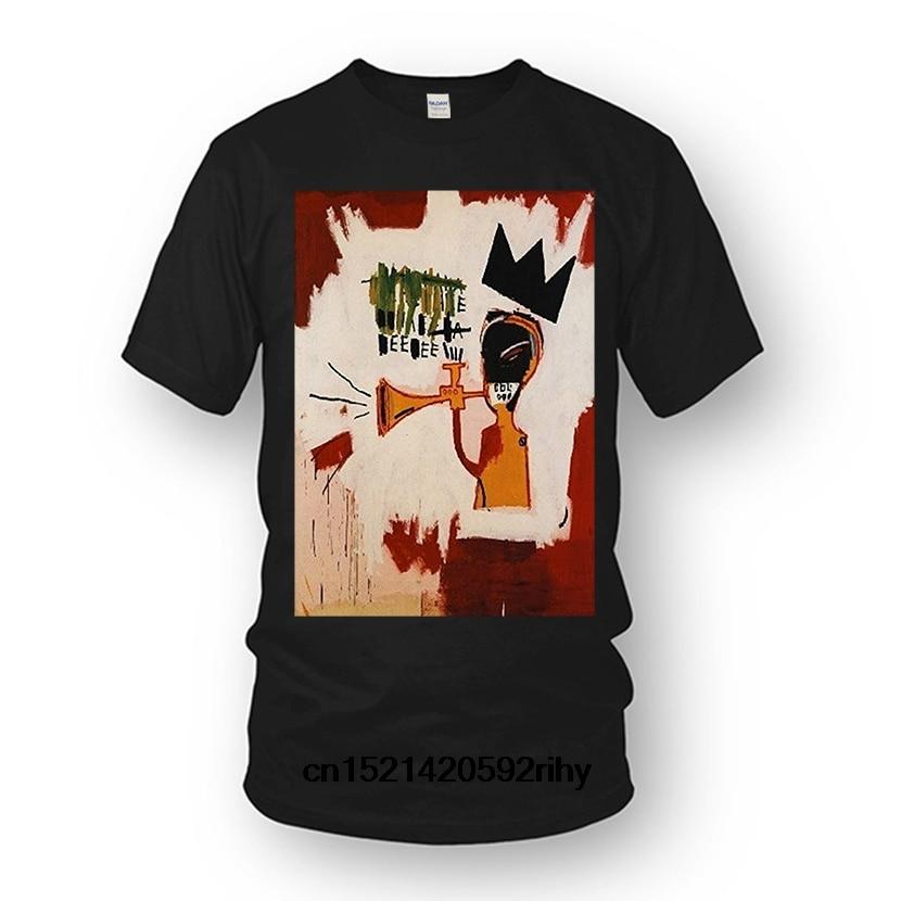 Mens Tops Cool O Neck T-shirt Men& Jean Michel Basquiat Short Sleeve Cotton Diy T-shirt For Men