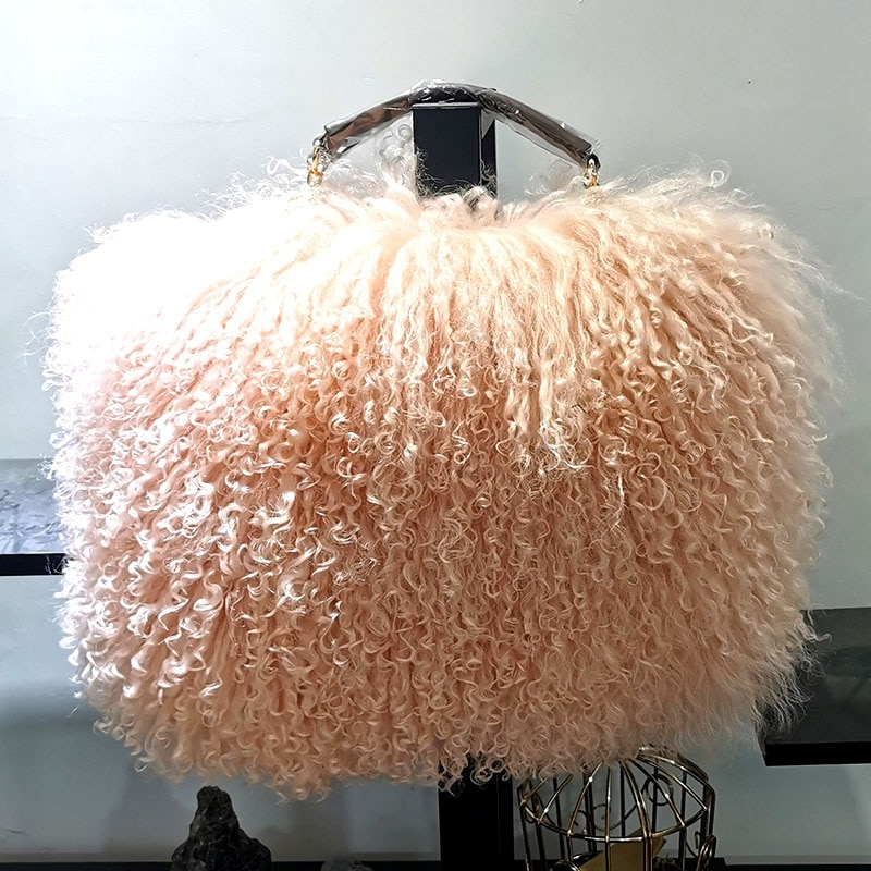 2021 Новая мода высокого класса с мехом Сумки из натуральной кожи 100% пляжная сумка с вставкой из шерсти