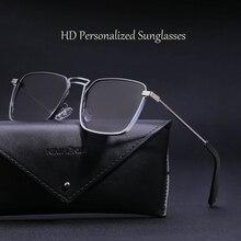 New Arrival 2021 Retro Fashion Sunglasses For Men Unique Classic Square Driving Polarized Sun Glasse