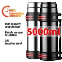 1 5l large capacity travel coffee mugs sports bottle portable stainless steel hiking insulation water bottle garrafa termica