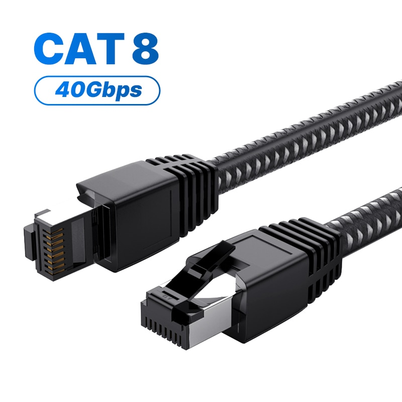 Cat8 Cable Ethernet RJ45 Cable de red 25Gbps SFTP Lan supervelocidad RJ...