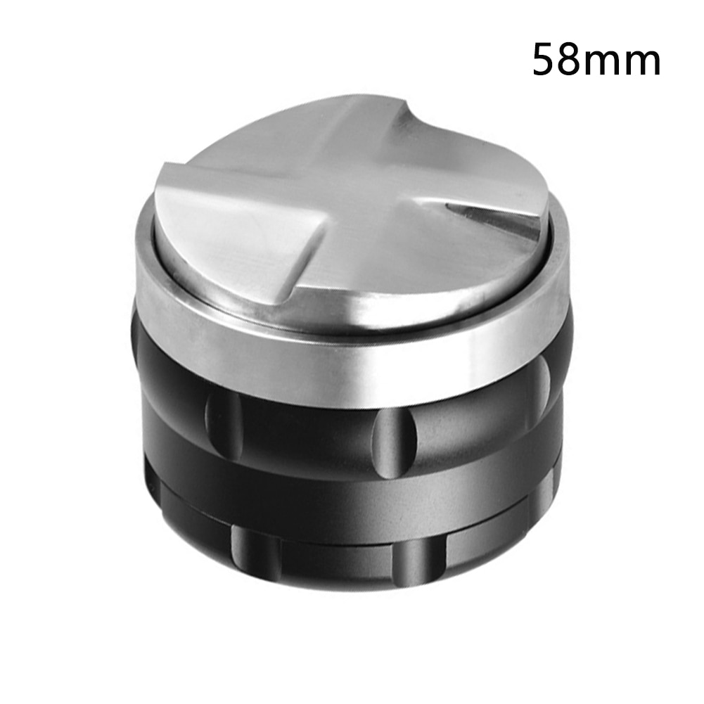 Nivelador inteligente de acero inoxidable de 53mm 58mm, herramienta de prensa de doble cabezal ajustable profesional, Mini distribuidor de café Barista