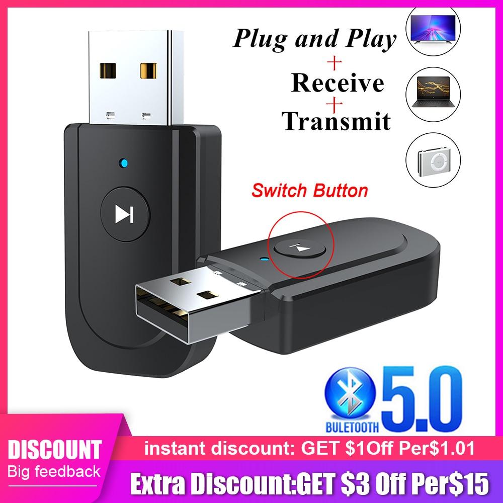 Receptor y transmisor de Audio 3 en 1 con Bluetooth 5,0, Dongle...