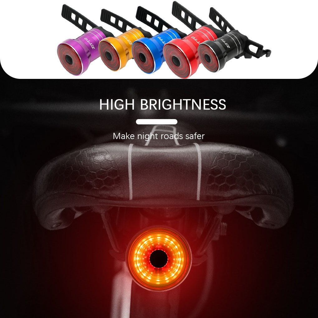 Bike LED Taillight Bicycle Smart Brake Induction Tail light USb Charging Night Riding Warning Light
