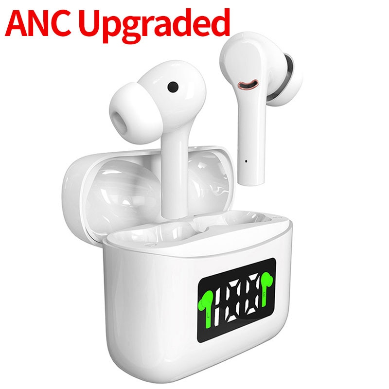 Upgraded ANC TWS Bluetooth Earphones Wireless Headphones Active Noise Cancelling Headsets With Micro