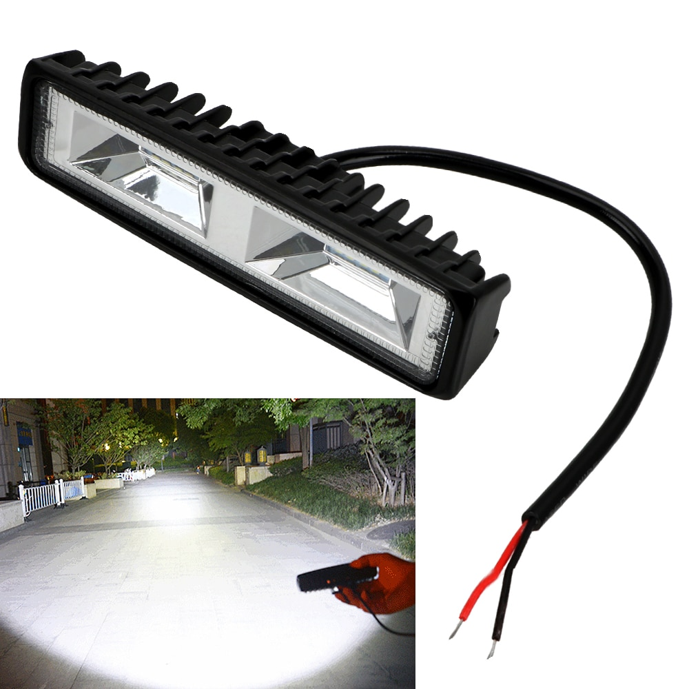 LED Headlights 12-24V For Auto Motorcycle Truck Boat Tractor Trailer Offroad Working Light 36W LED W