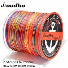 Jioudao ligne de pêche W9 300M 500M 1000M 1500M 9 brins multicolore tressé ligne de pêche Multifilament PE ligne 20LB-200LB