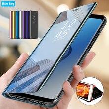 Luxury Flip Mirror Smart Stand Case For Samsung galaxy Note 20 Case Cover Coque For Samsung galaxy Note 2 0 Case Shockproof Capa