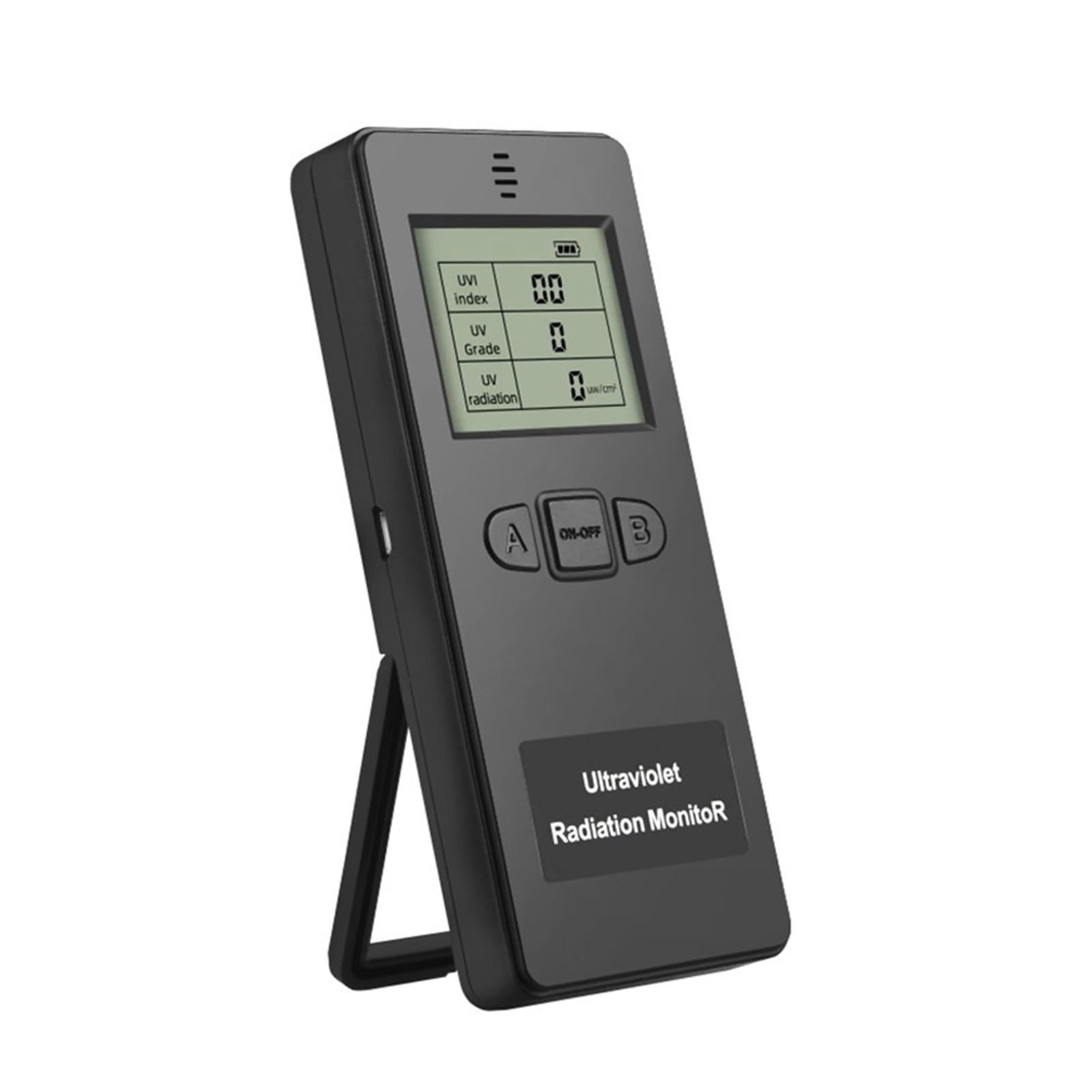 LCD Digital Display Handheld Portable UVI Meter Physical Measuring Instrument Testing Lightweight Ultraviolet Radiation Detector