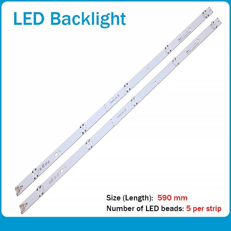 led backlight strip 5 lamp for lg 32tv innotek direct 15 5y 32inch 32lf510b 32lh590u svl320al5 dh lf51 32lh51 hd ssc 32inch hd New Kit 2pcs 5LEDs 590mm LED strip for LG TV 32LH510B 32LH51_HD S SSC_32INCH_HD LGE_WICOP_SVL320AL5 Innotek direct 32inch CSP