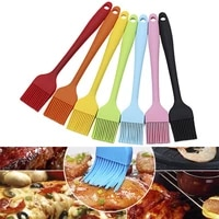 1pc silicone form baking pastry brush diy cake bread barbecue oil soft painting spatula kitchen cooking tools for steak