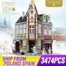 MOC şehir Streetview serisi brickstive victor lab köşe dükkanı modeli yapı taşları LepinBricks çocuk oyuncakları noel hediyesi
