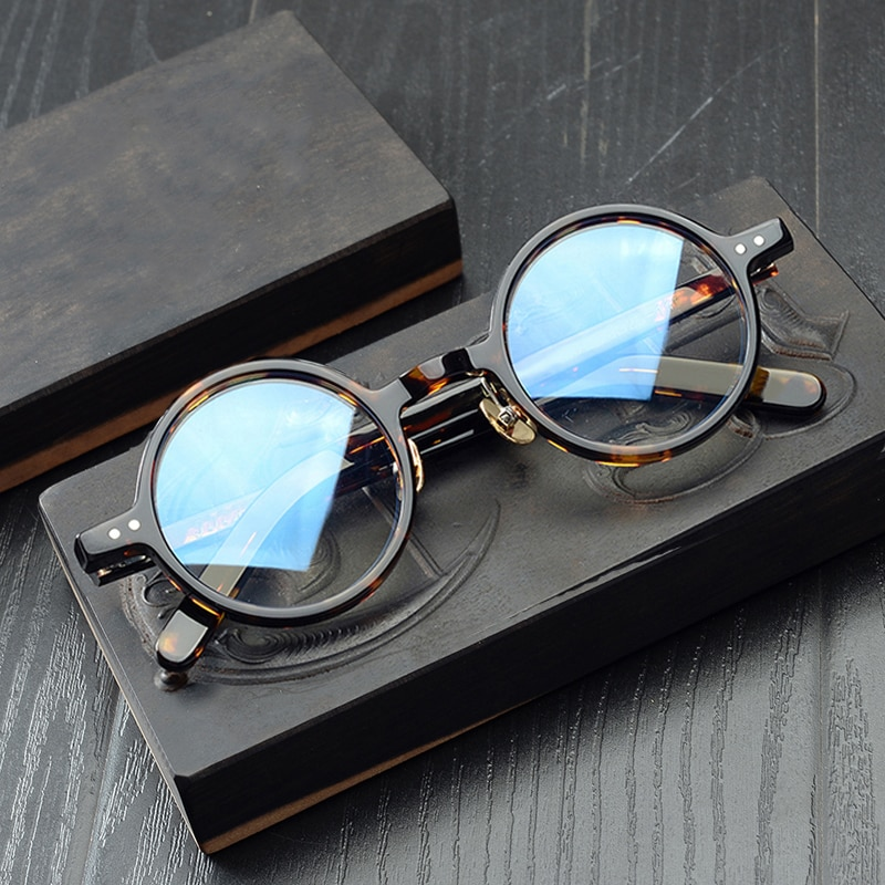 خلات شفافة واضحة نظارات الرجال النساء Vintage إطار نظارات دائرية صغيرة قصر النظر البصرية النظارات إطارات النظارات Oculos