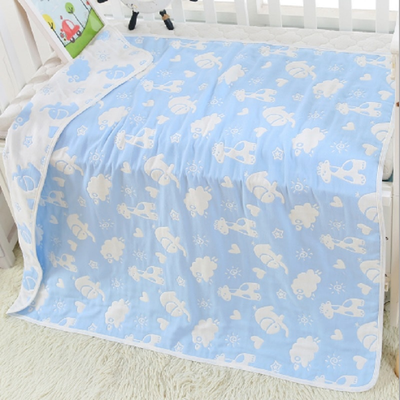 Miracle Baby Swaddle 100% Muslin Cotton 6 Layers Bath Towel Newborn Blankets Bebe Receiving Infant Wrap 80*80cm