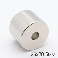 2pcs 25x20mm hole 6mm super strong round neodymium magnets countersunk ring rare earth powerful magnet ndfeb magnetic