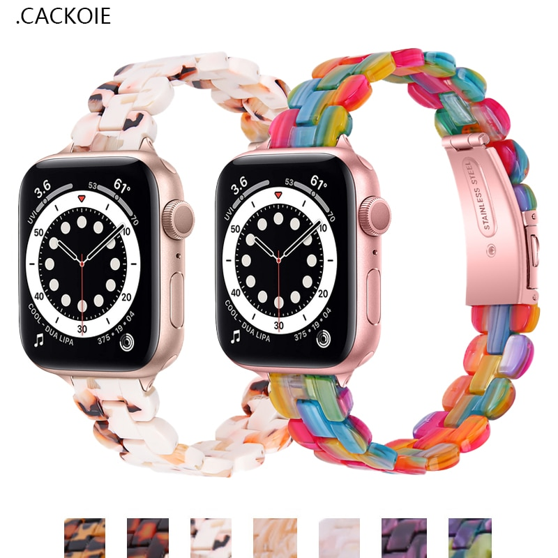 sports silicone for apple watch band 42mm 38mm 40mm 44mm smart watchbands wrist bracelet strap for i watch series 5 4 3 2 1 belt Resin Watch Strap For Apple Watch Band 40mm 44mm 42mm/38mm Bracelet iWatch 6 series SE 5 4 3 2 1 Correa Wrist Belt Accessories