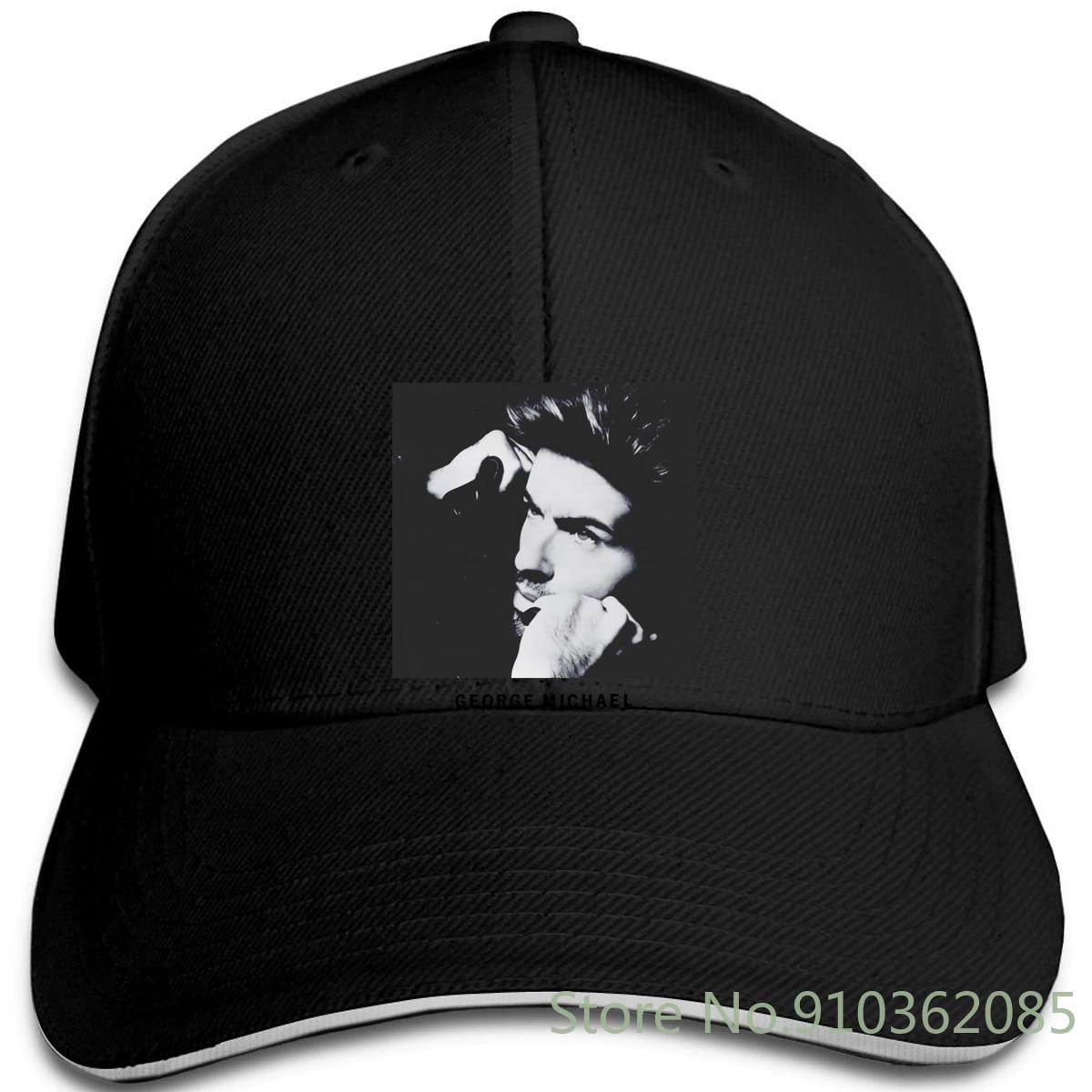 ¡Nueva! Gorra blanca George Michael Nuevo básico gorras ajustables gorra de béisbol hombres mujeres