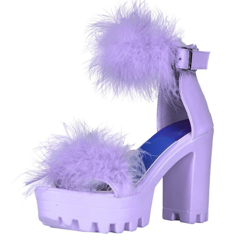 Dihope, sandalias de verano para mujer, mullidas, con puntera abierta, con plataforma, tacón grueso, tacón alto, sandalias sexis, zapatos especiales para fiesta o boda