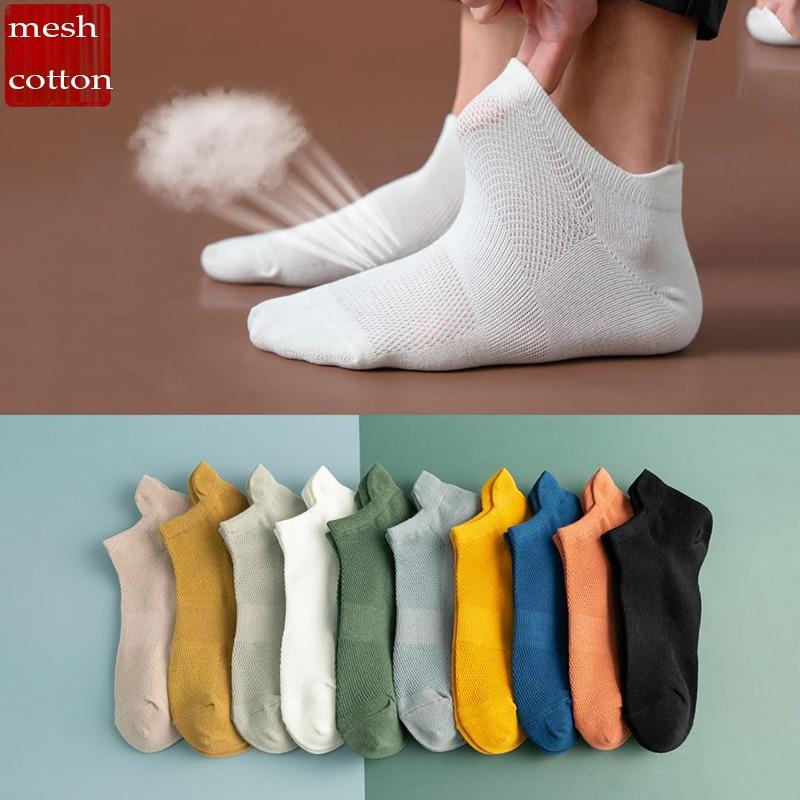 Calcetines de hombre de barco de alta calidad, novedad del 2020, calcetines transpirables con diseño antideslizante, cómodos, a la moda, en 10 colores, 10 pares