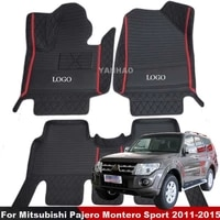 car floor mats for mitsubishi pajero montero sport 2011 2012 2013 2014 2015 5 seats auto carpet waterproof anti dirty car mats