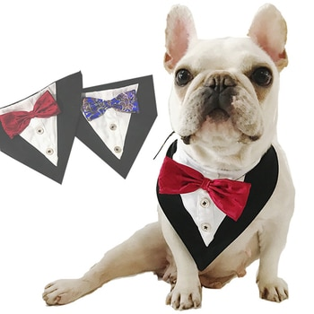 Dog Bandanas Cotton Washable Pet Bandanas Scarf Bow Ties Collar Cat Dog Scarf Grooming