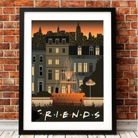 prints pictures home decor nordic friends tv show classic wall art modular poster abstract painting on canvas for living room