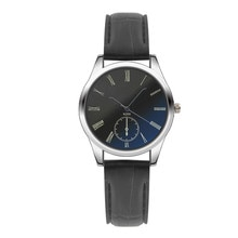 2020 Simple Business Fashion Women Mens Watch Analog Casual Black Leather Strap Couple Watches Ча�