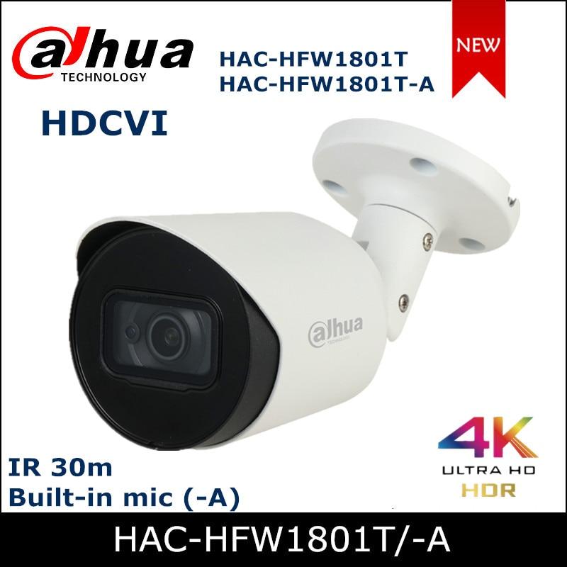 Dahua-caméra de caméra 4K HDCVI  , caméra de sécurité intégrée pour micro extérieur