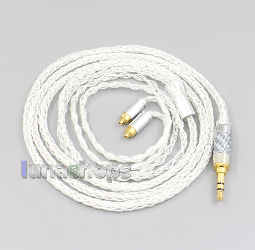 LN006574 3.5mm 2.5mm 4.4mm XLR 8 câble découteurs OCC plaqué argent pour dn-2002 Dunu