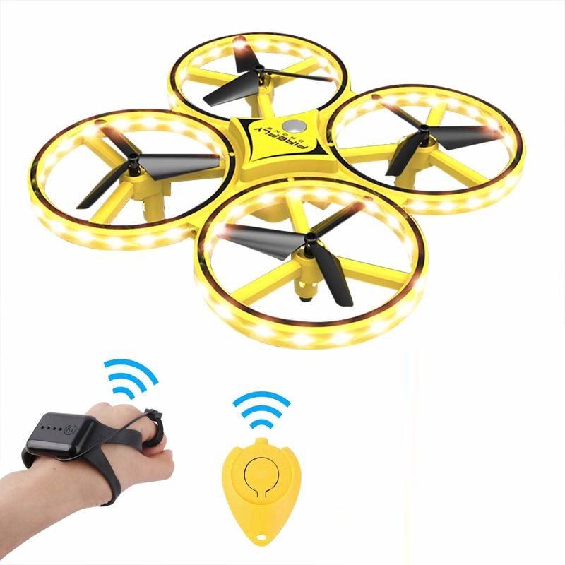 Zhenwei mini drone relógio rc quad-copter flyer segure controle de sensor infravermelho mini rc drones presente para crianças meninos