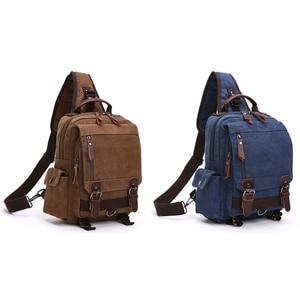 Stylish Canvas Messenger Bag Shoulder Bag Travel Backpack