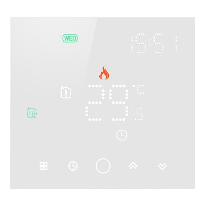 ترموستات واي فاي ذكي من HOT Tuya لأغراض التدفئة الأرضية الكهربائية/المائية جهاز تحكم في درجة الحرارة للمنزل يعمل مع أليكسا جوجل هوم