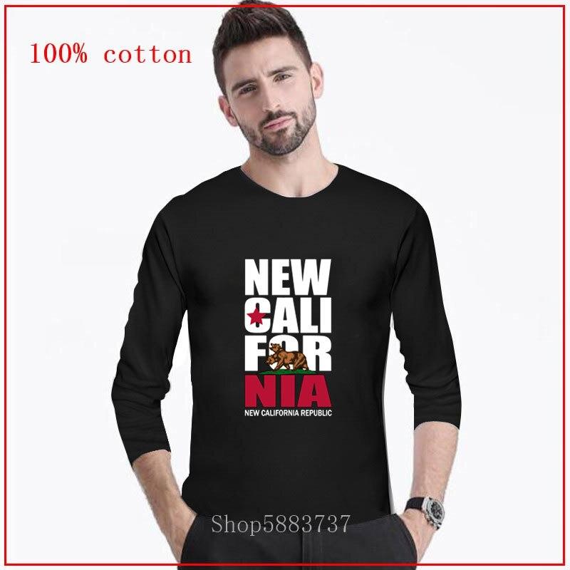 California, State, Flag, Republic, Bear, Los Angeles, SAC, San Francisco, camiseta de dibujos animados para hombres, nueva camiseta de moda de algodón