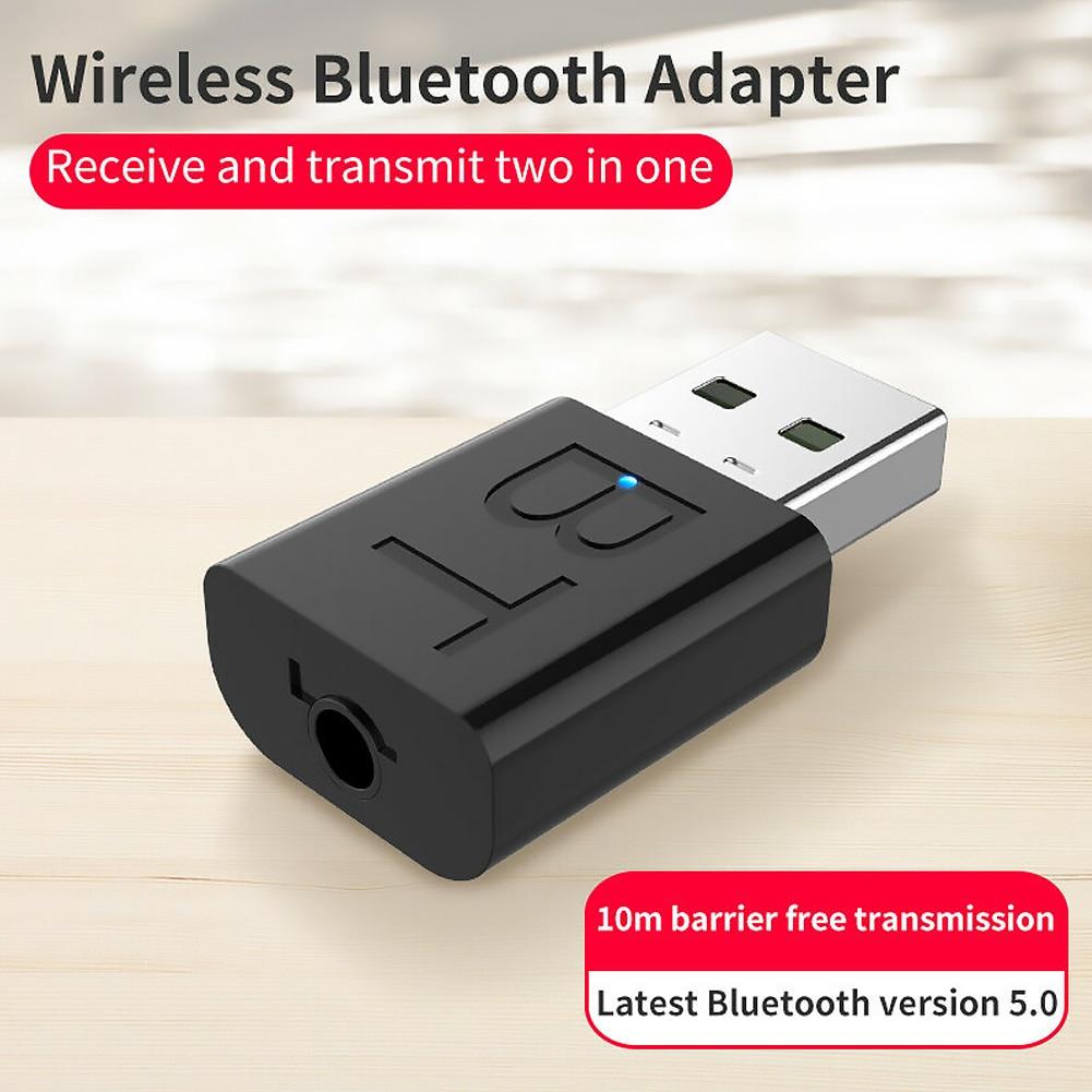 2 en 1, Bluetooth 5,0, receptor de Audio, transmisor, Audio, sistema estéreo para el hogar, Dongle USB, Adaptador de Audio para música, ordenador PC