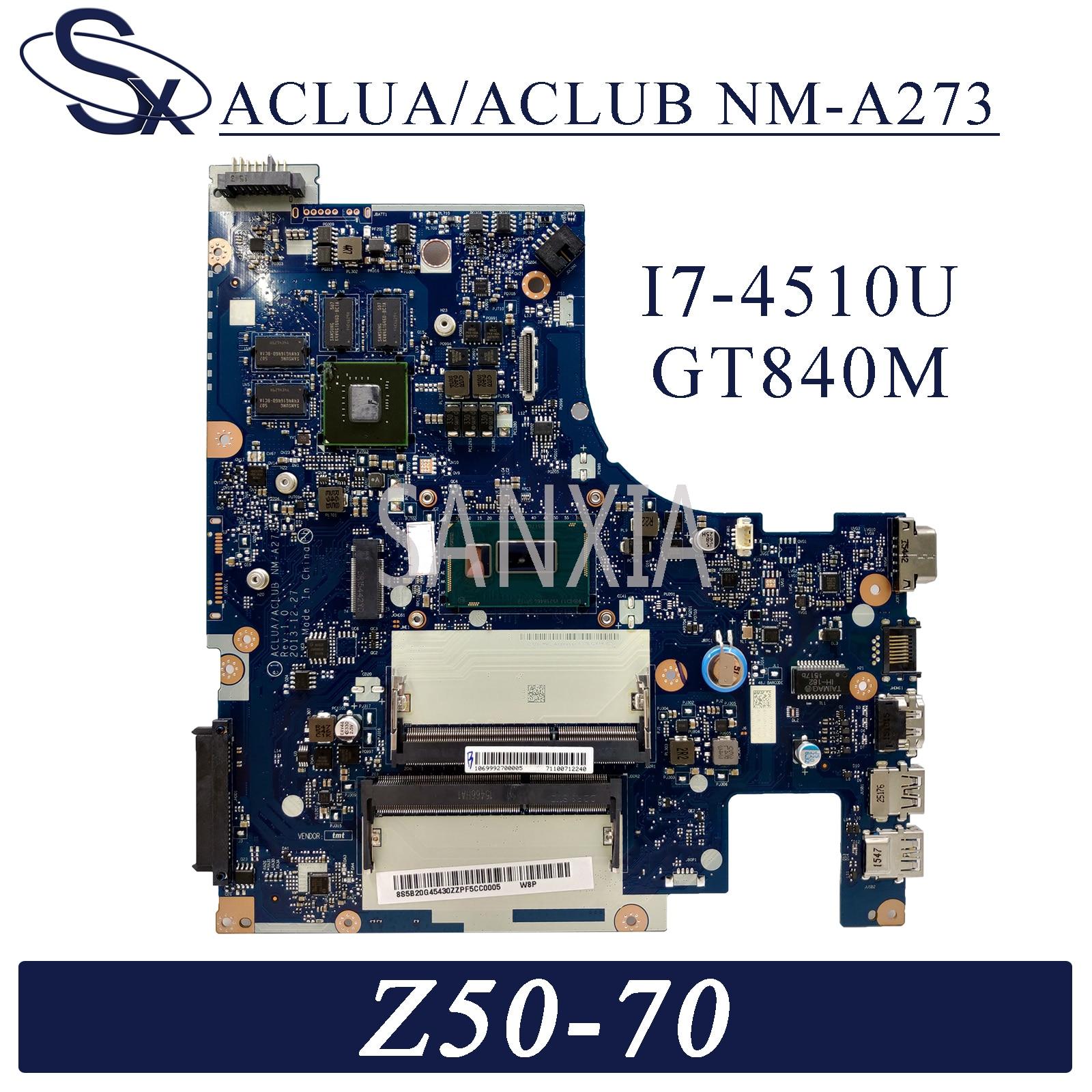 KEFU NM-A273 материнская плата для ноутбука lenovo Z50-70 G50-70M оригинальная материнская плата I7-4510U GT840M